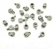 20 x  Bead Antique Silver Charm Tibetan Hanger Column Metal Zinc Alloy Connector