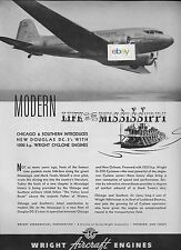 C & S CHICAGO AND SOUTHERN AIR LINES MODERN LIFE ON MISSISSIPPI BY DC-3 1940 AD