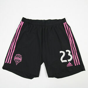 Seattle Sounders FC adidas Climalite Game Shorts Men's Black/Hot Pink Used