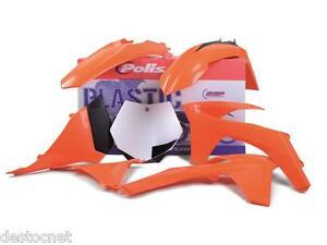 Kit plastiques Polisport  Couleur Origine Pour KTM EXC-F 250 450   2012-2013