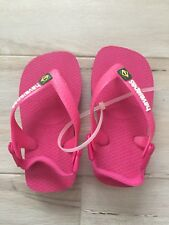 Havaianas Pink Baby Girl Slippers size 6.5C NWOT
