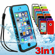 Waterproof Rigid Plastic Mobile Phone Cases, Covers & Skins for iPhone 5c