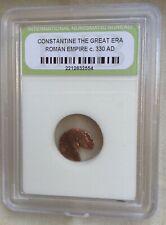 Ancient Roman Empire Collectors Coin slab Constantine The Great 330 AD Bronze