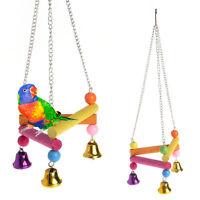 Pet Bird Parrot Parakeet Budgie Cockatiel Cage Hammock Swing Stand Hanging Toys
