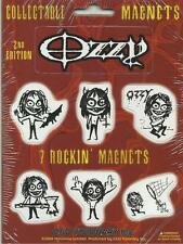 More details for ozzy osbourne 7 rockin magnets collectable mini magnet set no.2 official import