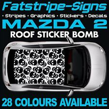 MAZDA 2 ROOF STICKER BOMB  GRAPHICS STICKERS DECALS 1.3 1.4 1.6 MZR D DEMIO JAP