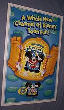Original 1998 TOON DISNEY Premiere Advance 27X41 VERY RARE MAKE OFFER!