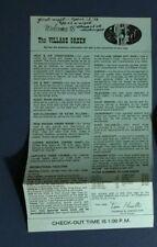 1978 Village Green Lodge Oregon Vintage Info Poster Golf Train Map
