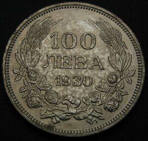 BULGARIA 100 Leva 1930 BP - Silver - Boris III. - XF - 1505