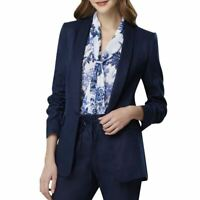 Tahari By ASL NEW Blue Women's Size 10 Open Front Blazer Ruched Sleeve w/ Tag