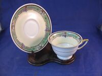 "ANTIQUE THOMAS TEA CUP AND SAUCER - BAVARIA - ""EMERALD"" PATTERN"