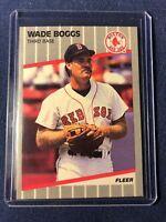 1989 Fleer WADE BOGGS Baseball Card #81 MINT - Boston Red Sox  HOF in toploader