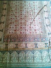 "Antique Persian ""Ghalamkar"" Linen 60+ years old Textile Hand-Printed Tablecloth"