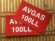 GENERAL AVIATION AIRCRAFT WING AVGAS 100LL FILLER POINT DECALS