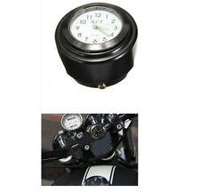 Montre de guidon noire cadran blanc pour Harley-Davidson et autre moto