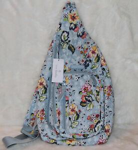 Vera Bradley Iconic Sling Backpack Backpack Bag Floating Garden (full size) NWT