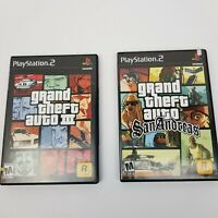 Grand Theft Auto Lot of 2 Games: GTA San Andreas & GTA III (3) Black Label USED