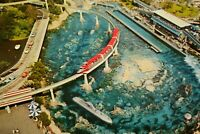 Vintage Postcard Disneyland Tomorrowland Monorail crosses Submarine Lagoon