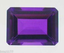 24.06 CT AAA Natural Purple Amethyst Gem Diamond Emerald Cut 18x13 MM VVS Gem