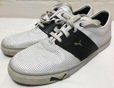 PUMA El Ace L Leather Fashion Sneakers Size 12 White Black Silver 349901-15
