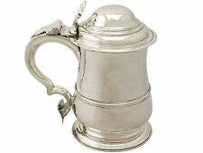 Sterling Silver Quart Tankard - Antique George II
