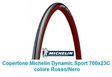 "Copertone Michelin Dynamic Sport 700x23C Rosso/Nero per Bici 28"" Single Speed"