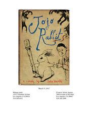 JOJO RABBIT rare early draft screenplay by Taika Waititi