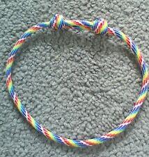 RAINBOW PARACORD THONG BRACELET *NEW* Adjustable Wristband - LGBT Pride