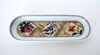 """Vintage Royal Worcester Fine Porcelain Dish England Floral Vanity Tray 9"""" x 3"""""""