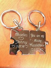 Personalized Custom Puzzle pieces,  Stainless Steel Necklace Customized