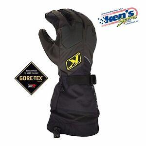 KLIM Black FUSION GORE-TEX Winter Snowmobile Gloves (Non-Current), 3087-000-000