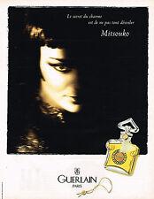 PUBLICITE ADVERTISING 045  1997  GUERLAIN  MITSOUKO   pour femme parfum