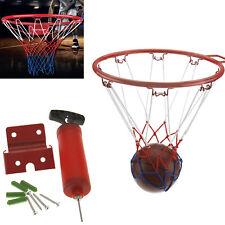 Junior Kids Small Basketball Ring Net Wall fixings Handpump & 15cm Ball