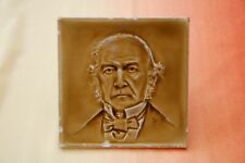 Victorian Portrait Dust Pressed Tile British Prime Minister W. Gladstone c1890