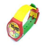 Vintage 1993 M & M Candy Collectable Quartz Wrist Watch