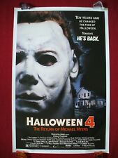 HALLOWEEN 4 * 1988 ORIGINAL MOVIE POSTER 1SH MICHAEL MYERS MASK DANIELLE HARRIS