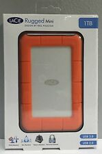 BRAND NEW!!! LaCie Rugged Mini 1 TB,External,5400 RPM (301558) Shock Resistant