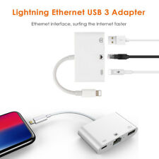 Lightning to USB Camera RJ45 LAN Ethernet Charging Adapter Cable For iPhone X 8