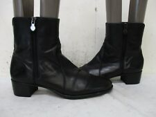 Munro American Black Leather Zip Ankle Boots Womens Size 8.5 M