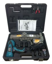 """1 Ton 12V Electric Scissor Car Jack + 1/2"""" Impact Wrench Lift Lifting Kit C"""