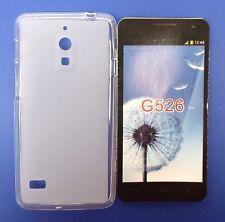 Funda Carcasa Gel TPU Lisa Orange Huawei Ascend G526 Transparente NUEVO