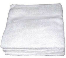 12 new white economy 15x25 hand towels 2.75# per dz gym salon fitness cleaning
