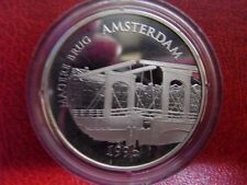 1996 France Large Silver Proof  100 Fr/15 Euro Amsterdam Magere Brug