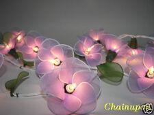 20 PURPLE FLOWERS STRING PARTY,PATIO,FAIRY,DECOR,CHRISTMAS,WEDDING,GIFT LIGHTS