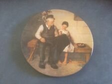 """Norman Rockwell """"The Lighthouse Keeper's Daughter"""" 1977 Vintage Plate Preowned"""