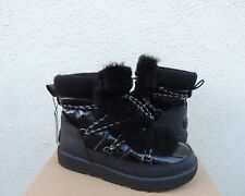 UGG HIGHLAND BLACK PATENT LEATHER WATERPROOF WINTER BOOTS, US 8.5/ EUR 39.5 ~NIB