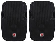 "2) Rockville SPG84 8"" Passive 800W DJ PA Speakers ABS Lightweight Cabinet 4 Ohm"