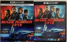 Blade Runner 2049 4K Ultra Hd Blu Ray 2 Disc Set+ Slipcover Sleeve Free Shipping