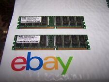 Pair of ProMOS 256MB DDR-400MHZ-CL3 RAM