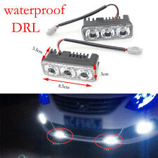 2PCS Waterproof Car DRL 6LED Daytime Running Light Driving Fog Lamp Super White